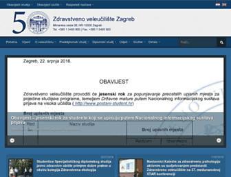Main page screenshot of zvu.hr