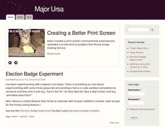 Main page screenshot of majorursa.net