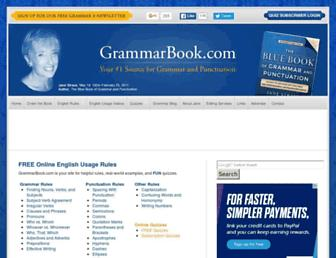 grammarbook.com screenshot