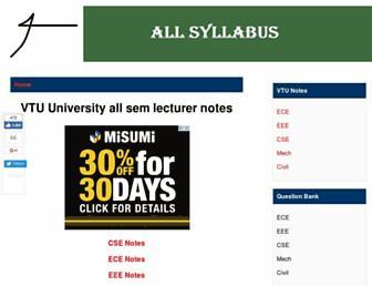 vtu.allsyllabus.com screenshot