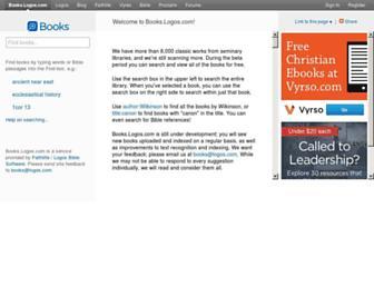 books.logos.com screenshot
