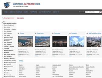 maritime-database.com screenshot