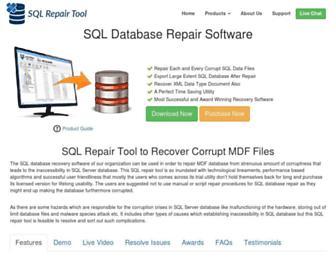 sqlrepairtool.org screenshot
