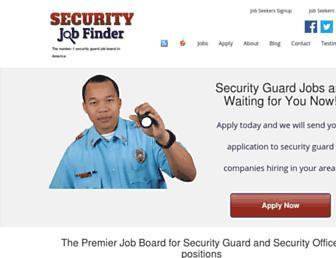 securityjobfinder.com screenshot
