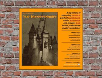 deceptionary.com screenshot