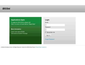 Main page screenshot of ibssm.org