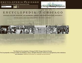 encyclopedia.chicagohistory.org screenshot
