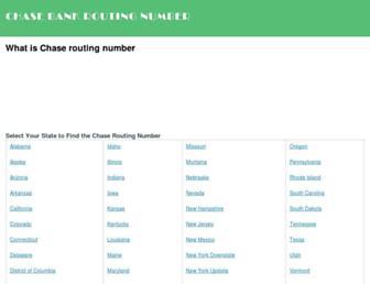 chasebankroutingnumber.net screenshot
