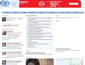 Main page screenshot of wunschkinder.net