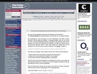 Main page screenshot of pixel-partisan.de