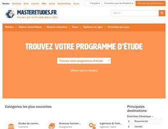 masteretudes.fr screenshot
