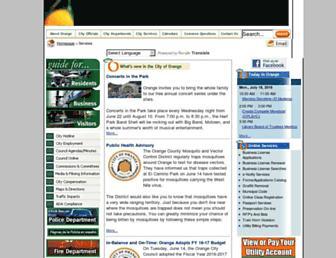 cityoforange.org screenshot
