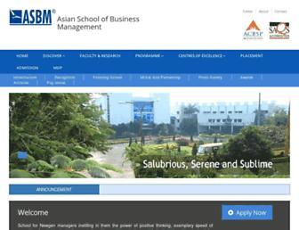 asbm.ac.in screenshot