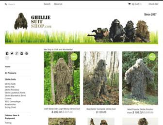 ghilliesuitshop.com screenshot