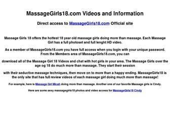 Thumbshot of Massagegirls18.net