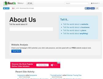 aboutus.com screenshot