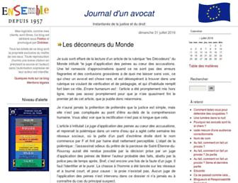 Main page screenshot of maitre-eolas.fr