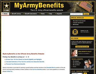 myarmybenefits.us.army.mil screenshot