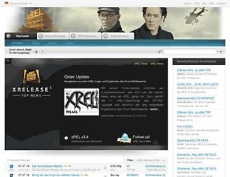 Main page screenshot of xrel.to