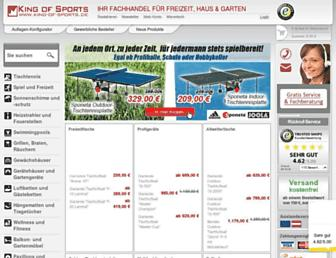 Main page screenshot of king-of-sports.de