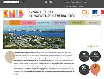 Main page screenshot of enib.fr