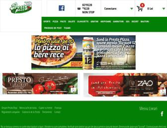 presto-pizza.ro screenshot