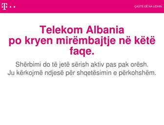 telekom.com.al screenshot