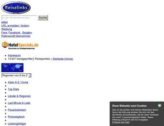Main page screenshot of reiselinks.de