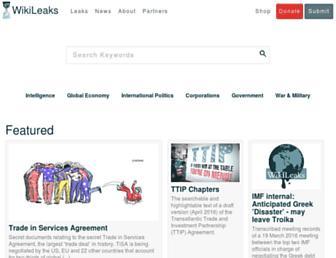 Main page screenshot of wikileaks.ch