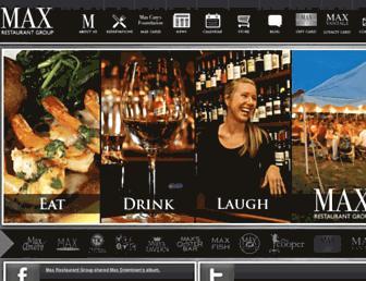 maxrestaurantgroup.com screenshot