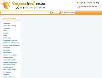importitall.co.za screenshot