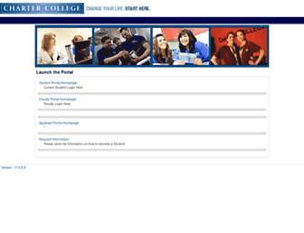 portal.chartercollege.edu screenshot