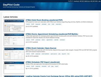 code.daypilot.org screenshot