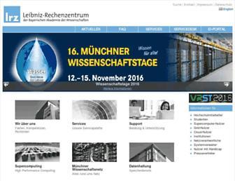 Main page screenshot of lrz-muenchen.de