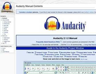manual.audacityteam.org screenshot
