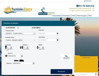 tunisie-ferry.com screenshot