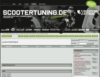 Main page screenshot of scootertuning.de