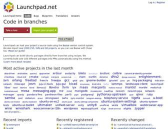 code.launchpad.net screenshot
