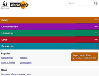 worksafe.tas.gov.au screenshot