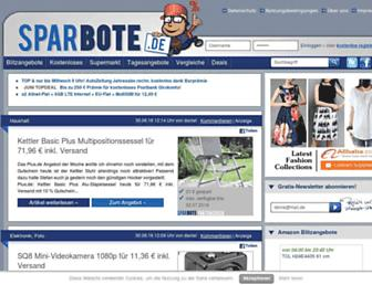 Main page screenshot of sparbote.de