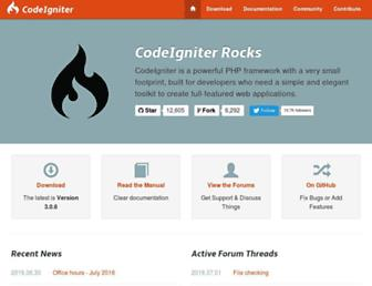 Thumbshot of Codeigniter.com