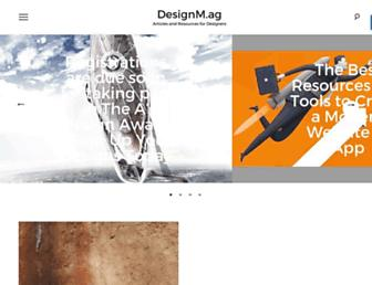 Main page screenshot of designm.ag