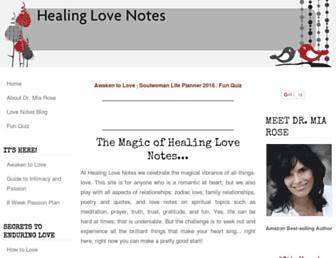 healinglovenotes.com screenshot