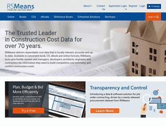 rsmeans.com screenshot