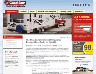 goodsamrvinsurance.com screenshot