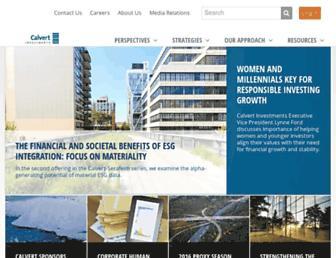 calvert.com screenshot