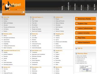 Main page screenshot of polypat.org