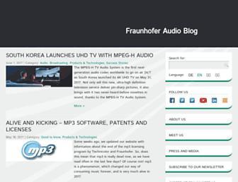 audioblog.iis.fraunhofer.com screenshot