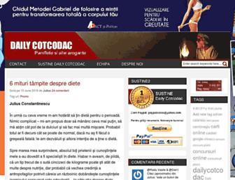 dailycotcodac.ro screenshot