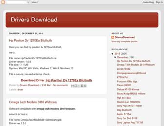 dell-notebook-drivers.blogspot.com screenshot